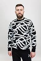 Свитшот мужской кофта LINES BLK Urban Planet (свитшоты, чоловічий світшот, толстовка, мужская одежда, одяг)