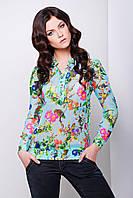Модная Блуза Женская Принт цветы Весна