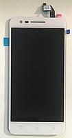 Модуль (дисплей + сенсор) для Lenovo Vibe C2 (K10a40) білий