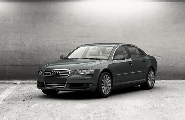Лобовое стекло Audi A8 с местом под датчик (2002-2010)