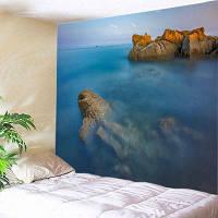 Настенный Художественная Гобелен Рок Океан Печати ширина59дюймов*длина51дюйм