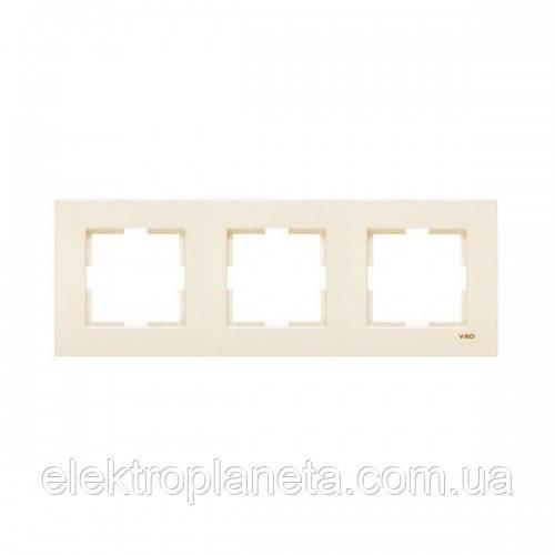Рамка viko karre крем 3-я горизонтальная