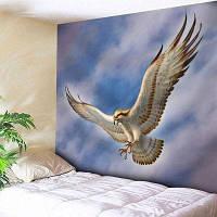 Настенный Декор Летающий Печати Орел Гобелен ширина79дюймов*длина59дюймов