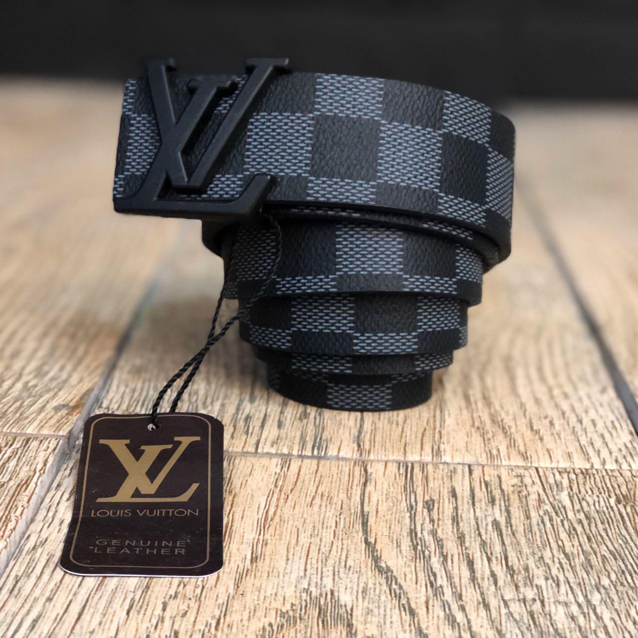 Ремень Louis Vuitton D1912 серо-черный - купить по лучшей цене, от ... 0691ade4cf5