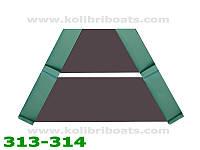 Пайол слань-коврик носовая часть КМ260-КМ280 коричневая