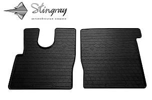 DAF XF (EURO 6) 2013- Комплект из 2-х ковриков Черный в салон. Доставка по всей Украине. Оплата при получении