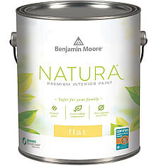 Гипоаллергенная интерьерная краска Natura Interior Flat finish Benjamin Moore 0.946л