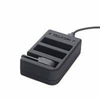 Зарядное устройство Telesin для 2-х аккумуляторов и пульта GoPro 4