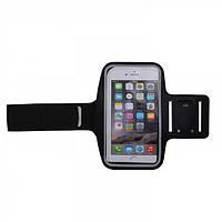 Черный неопреновый чехол на руку для смартфона