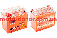 Аккумулятор на мототехнику   12V 12А   гелевый   (150x85.8x131.4, оранжевый, mod:UTX 12-BS)   OUTDO, шт