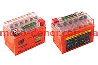 Аккумулятор на мототехнику   12V 4А   гелевый   (114x71x88, оранжевый, с индикатором заряда)   OUTDO, шт