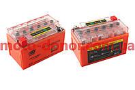 Аккумулятор на мототехнику   12V 7А   гелевый   (150x85x95, оранжевый, с индикатором заряда)   OUTDO, шт