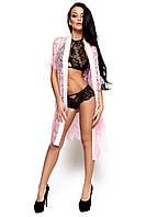 Женский гипюровый пеньюар Karree, розовый (S-M)
