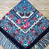 Красивый  платок для девушек с цветами (120х120см, 80%-шерсть)