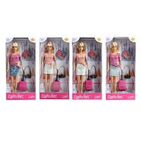 """Кукла """"DEFA"""" 29см, чемодан, фотоаппарат, 2 вида, в кор.15*32*5см(48шт)(8377-BF)"""