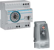 Сумеречное реле EE110 c датчиком hager EE003 с суточным аналоговым таймером
