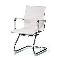 Офисное кресло для посетителей Solano office artleather white, фото 1