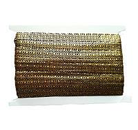 Резинка-бейка черная с золотом (золотая с рисунком) для повязок на голову, бретелек 1.5 см 3 м/уп