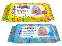 Влажные салфетки для детей 48 шт Florica