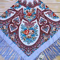 Жіноча хустина лілового кольору (120х120см, 80%-шерсть), фото 1