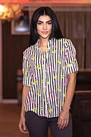 Рубашка женская шифоновая в полоску