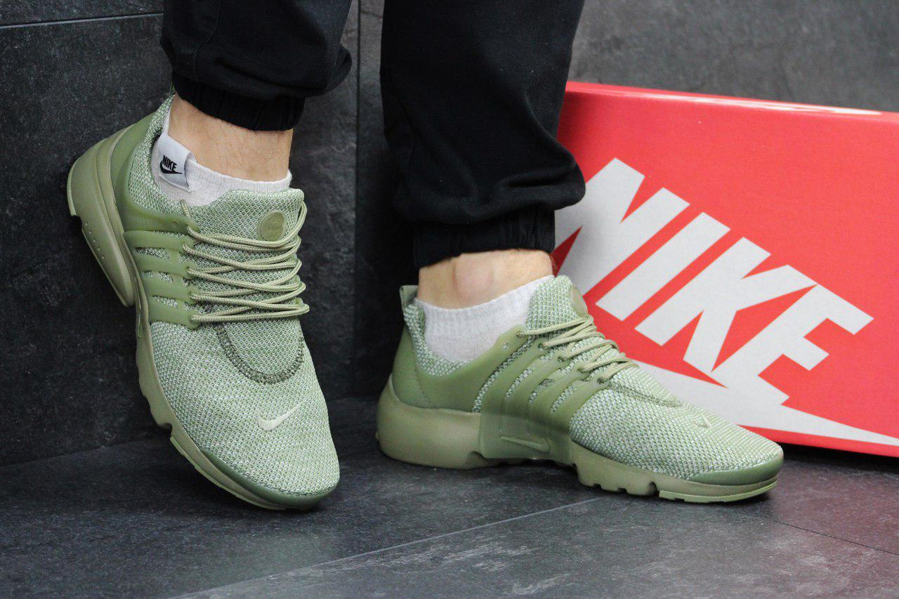 Кроссовки мужские Nike Air Presto (оливковые), ТОП-реплика