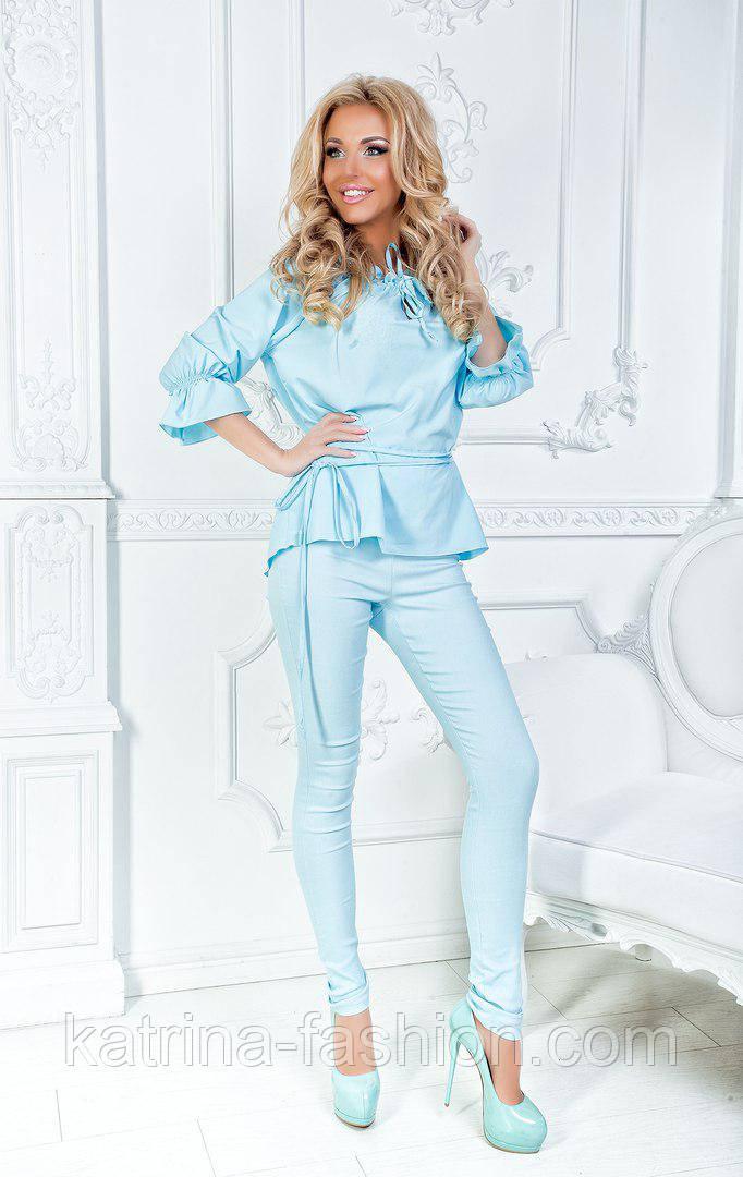 Женский красивый брючный костюм: блуза и брюки (3 цвета)
