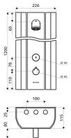 Schel LINUS Душевая панель с термостатом 008020899