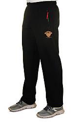Черные спортивные штаны мужские трикотажные прямые больших размеров