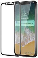 Защитное стекло Apple iPhone X Premium Glass Черный На весь экран 