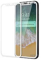 Защитное стекло Apple iPhone X Premium Glass Белый На весь экран 