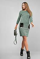 Красивое платье с пайетками большого размера