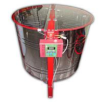 Медогонка 14-ти рамочная автоматическая (ременной привод) полуповоротная под рамку Рута, фото 1