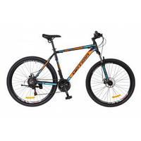 Велосипед горный MTB кросс-кантри Optima Motion DD 26 рама-19 черный/оранжевый/серый OPS-OP-26-064