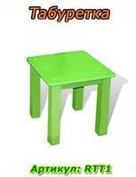 Детская мебель Табурет(зелёный) RTT1 (26х26х26см)