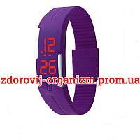 Турмалиновые спортивные светодиодные часы силиконовые влагонепроницаемые
