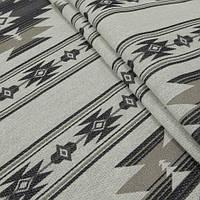Гобелен ткань, бежево-чёрный