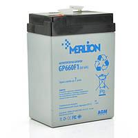 Аккумуляторная батарея MERLION AGM GP660F1 6 V 6Ah