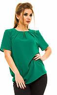 Блуза 852199-6 зеленый 50 52 54 56