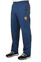 Спортивные штаны больших размеров мужские трикотажные синие баталы
