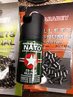 Газовый баллончик NATO спецназовский 30мл, для  самообороны, супер эффект