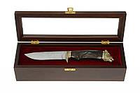 Нож охотничий Кабан Дамаская сталь, Кульбида и Лесючевский, ЭЛИТНАЯ СЕРИЯ, ручная работа, фото 1