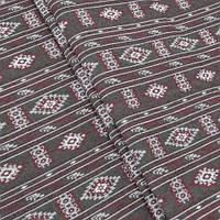 Гобелен ткань, национальный орнамент, коричнево-красный