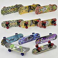 Скейт 8 видов, колесо d=5 cm, PVC, длина доски =43см в п/э /24/(F22223)