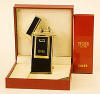 Электроимпульсная зажигалка TIGER Gold, фото 1