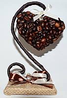 Композиция из кофейных зерен, оригинальный подарок
