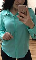 Блуза 85136-1 голубой 52 54 56