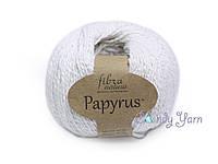 Хлопок с шелком Fibranatura Papyrus белый, 229-01