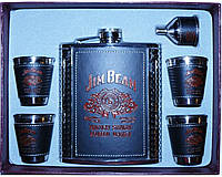 Подарочный набор с флягой Jim Beam, отличный подарок для настоящего мужчины