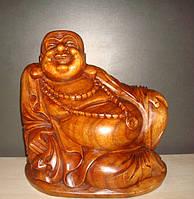 Статуэтка деревянная Счастливый Будда размер 35*20 см